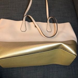 Tory Burch pink & gold reversible tote